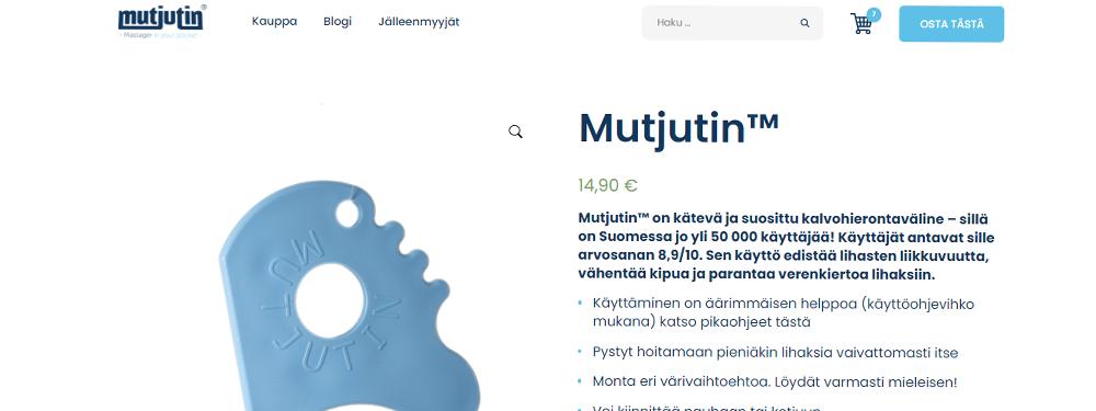 Mutjutin.fi uudistuu! Uusi verkkokauppa ja kaksi uutta tuotetta