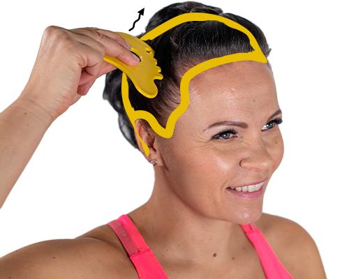 Mutjuttimen kampaosa toimii mahtavana koko päänahan hierojana